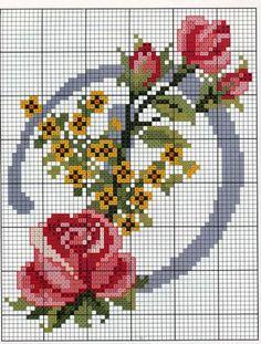 Free embroidery scheme alphabet                                                                                                                                                                                 Mais