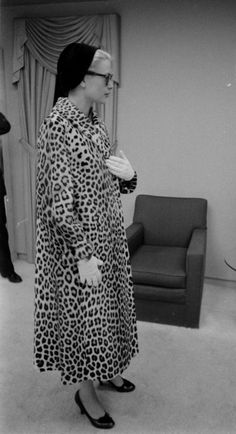 Grace with her leopard coat.
