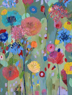 Dreamscape Canvas Artwork by Carrie Schmitt Illustrations, Illustration Art, Arte Floral, Canvas Artwork, Painting Prints, Paintings, Painting Inspiration, Flower Art, Creations