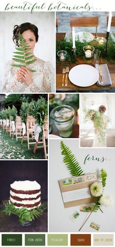 Love the cake and the table design Botanical-Fern-Wedding-Inspiration-copy. Fern Wedding, Forest Wedding, Woodland Wedding, Floral Wedding, Wedding Bouquets, Rustic Wedding, Wedding Flowers, Botanical Wedding Theme, 2015 Wedding Trends