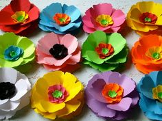paper poppy love flowers