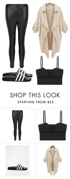 """""""Casual Friday's"""" by yalda-gilantash ❤ liked on Polyvore featuring New Look, Alexander McQueen and adidas"""