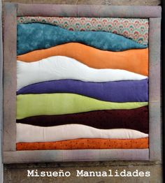 Taller Patchwork sin aguja, abril 2015.  Esta creación es de A. ¡Enhorabuena por el resultado!  www.misuenyo.com / www.misuenyo.es