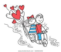 Стоковая векторная графика «Lovers Boy Girl Ride On Gas» (без лицензионных платежей), 1640563258 Happy Valentines Day Card, Snoopy, Lovers, Vector Characters, Boys, Illustration, Fictional Characters, Image, Art