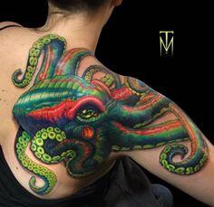 Huge Octopus Tattoo by Tyler Moody