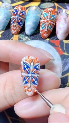 Manicure, Pedicure Nail Art, Gel Nail Art, Nail Art Diy, Nail Polish, Nail Art Designs Videos, Nail Art Videos, Acrylic Nail Designs, Acrylic Nails