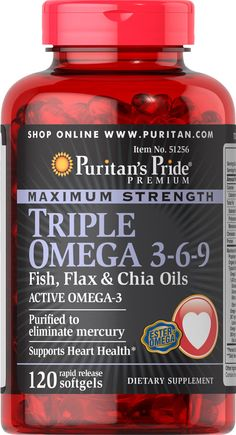 Buy Triple Omega Fish, Flax & Borage Oils 240 Softgels & other Fish Oils Supplements. Maximum Strength Triple Omega is reinforced with 3 different types of omega fatty acids along with Flaxseed & Primrose Oil and is a good source of Vitamin E. Best Omega 3 Supplements, Heart Health Supplements, Omega 3 6, Omega 3 Fish Oil, Chia Oil, Borage Oil, Weight Loss Herbs, Krill Oil, Good Fats