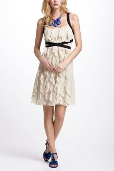 Banded Ruffles A-Line Dress Anthropologie