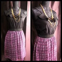 I just added this to my closet on Poshmark: Ruffle and purple print dress. Price: $28 Size: XS
