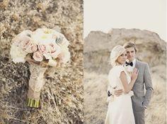 vintage inspired wedding bouquet