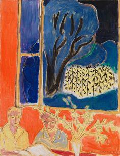 Two Girls in a Coral Interior, Blue Garden, 1947 Henri Matisse