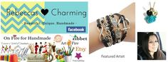 Rebeccas Charming Featured FB Artist On Fire for Handmade