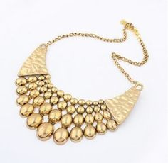BRASS COLLAR NECKLACES BIG BEAD EXAGGERATED NECKLACE BUBBLE ETHNIC VINTAGE RETRO ANTIQUE FASHION NECKLACE FOR WOMEN TOPSHOP 2014