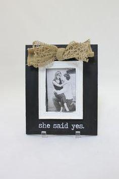 Yes Wedding Frame $23.95 #wedding #photoframe