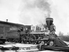 Photographic Print: Old Time Railroads, New York, New York Poster : New York Poster, Old Steam Train, Old Trains, Vintage Trains, Train Pictures, Time Pictures, Train Layouts, Steam Locomotive, Train Tracks