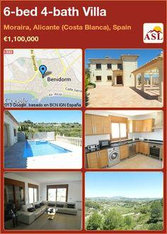6-bed 4-bath Villa in Moraira, Alicante (Costa Blanca), Spain ►€1,100,000 #PropertyForSaleInSpain