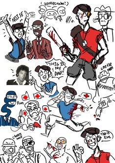 Tf2 Comics, Tf2 Pyro, Tf2 Sniper, Tf2 Scout, Tf2 Memes, Team Fortess 2, Scout Mom, Stuck In My Head, What To Draw