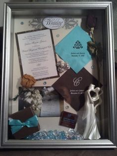 Really like this wedding shadow box idea!