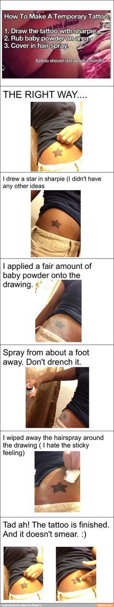 Sharpie tattoo