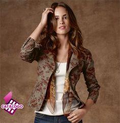 Blazer feminino floral | Blazers