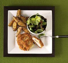 Gouda, Cordon Bleu, Chicken Wings, Chicken Recipes, Meat, Pork Cutlets, Clarified Butter, Hams, Pepper