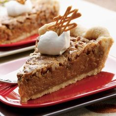 Butterscotch Pecan Perfection Pie (Easy; 10 servings) #butterscotch #pecan #pie