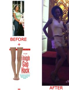 1000+ images about Thigh Gap - Before and After on ...
