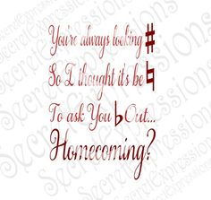 Ask You Flat Out Homecoming Svg Musical Homecoming Proposal Digital SVG File for Cricut or Silhouette DXF Png Jpg Eps Print File Dance Proposal, Homecoming Proposal, Homecoming Dance, Homecoming Ideas, High School Dance, School Dances, Cute Hoco Proposals, Cute Promposals, Asking To Prom