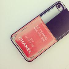 Chanel Orange Fizz nail polish iPhone Case