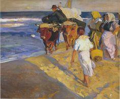 The Athenaeum - Valencia Beach, Morning sun (Joaquin Sorolla y Bastida - ) Spanish Painters, Spanish Artists, Claude Monet, Valencia Beach, Madrid, Klimt, Portrait Art, Canvas Art Prints, Les Oeuvres