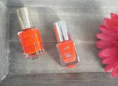 Hey lovelies, so L'Oréal Paris recently launched some Riche Oil nail polishes that I immediately had to purchase and test for you guys.  Well, I did find some awesome drugstore dupes for you and here's the first. The L'Oréal Color Riche Oil polish in the shade '444 Orange Triomphe' (6,95€) vs. the p2 cosmetics '160 perfect punch' (2,25€). I have some swatches for you later, just to show you how similar they are. ❤️ . . Hallo meine Süßen  Ich konnte es mir natürlich nicht nehmen lass...