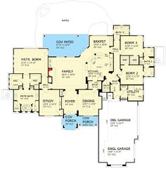 Floor plan home sweet home pinterest bath ranch for Hill country house plans luxury