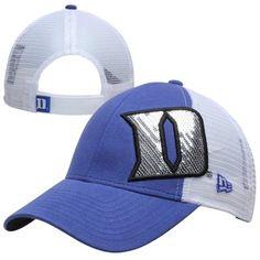 New Era Duke Blue Devils Ladies NCAA Sequin Shimmer Hat - Duke Blue/White