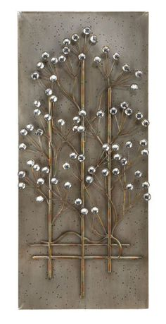 "Designer Metal Wall Decor 42"" x 18"" | eBay"