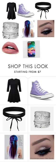 """Lilli's First Date/Kiss"" by kayla-iz-here on Polyvore featuring Miss Selfridge, Converse, Boohoo, Avenue and Manic Panic NYC"