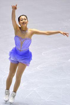 Mao Asada of Japan short program 2013 NHK Trophy- Purple Figure Skating / Ice Skating dress inspiration for Sk8 Gr8 Designs
