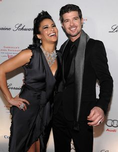 I wish I could find a better picture of Paula Patton's makeup..love this couple