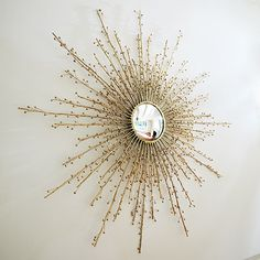 Designer Botanical Starburst Mirror, in Brass sharing luxury designer home decor inspirations and ideas for beautiful living rooms, dinning rooms, bedrooms & bathrooms inc furniture, chandeliers, table lamps, mirrors, art, vases, trays, pillows, accessories & gift courtesy of InStyle Decor Beverly Hills enjoy & happy pinning