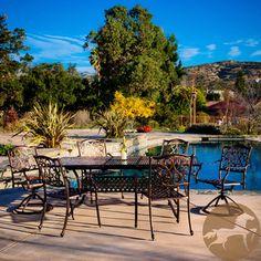 Christopher Knight Home Vallarta Expandable Cast Aluminum Dining Set (Set of 7) | Overstock.com Shopping - Big Discounts on Christopher Knight Home Dining Sets