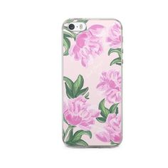 iPhone Case Peony (63 PLN) via Polyvore featuring accessories, tech accessories, pink iphone case, iphone cover case, apple iphone case, floral iphone case i iphone cases