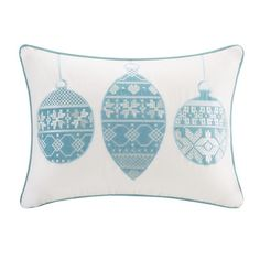 Aqua Velvet Ornament Pillow