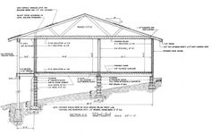 Ranch Home Cross Section