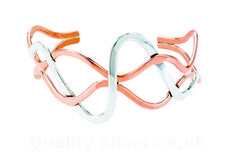 Tianguis Jackson Copper and Silver Open Weave Bangle - Silver Bangle