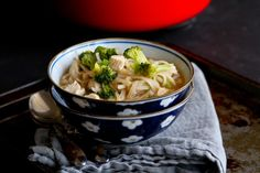 Chicken & Vegetable Rice Noodle Soup – The Pioneer Woman The Pioneer Woman, Rice Noodle Soups, Rice Noodles, Vegetable Rice, Chili Garlic Sauce, Soy Sauce, Just Cooking, Asian Cooking, Chicken And Vegetables