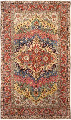 Antique Persian Tabriz Rug 46383 Detail/Large View by Nazmiyal Antique Rugs and carpet gallery. Persian Carpet, Persian Rug, Main Image, Boucherouite, Tabriz Rug, Carpet Colors, Pink Carpet, Silver Carpet, Modern Carpet