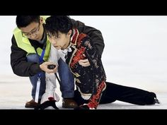 Hanyu scary crash Yan Han...THIS IS WHY HE IS KING!!!!!!!!!!!!!!!!!!!!!!!