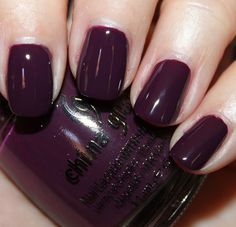 urban night by china glaze, part of their metro collection. pretty eggplant purple. as seen on vampy varnish (favorite nail blog).