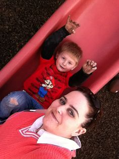Zach and I on the slide