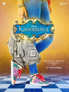 Check out the first colourful teaser poster of Sonam Kapoor's latest Bollywood film Khoobsurat. The film is directed by Shashanka Ghosh and produced by Anil Kapoor, Rhea Kapoor and Siddharth Roy Kapur. Movies 2014, Latest Movies, Hd Movies, Movies And Tv Shows, Bollywood Posters, Bollywood Actors, Bollywood News, Bollywood Masala, Bollywood Celebrities