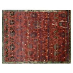 """Check out this item at One Kings Lane! 8'6""""x11'6"""" Lucian Rug, Pomegranate $3600"""